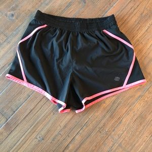 ZELOS size S black & neon pink athletic shorts